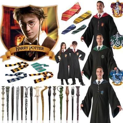 Harry Potter-gryffindor Krawatte (Harry Potter Gryffindor Slytherin Robe Mantel Krawatte Schal Wand Cosplay Kostüm)