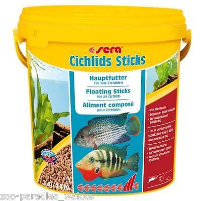 2 kg sera cichlids Sticks Cichliden, Buntbarsche, Barsche, 10 Liter Fischfutter