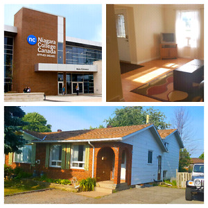 September 2017-18 Niagara College student rooms for rent Welland