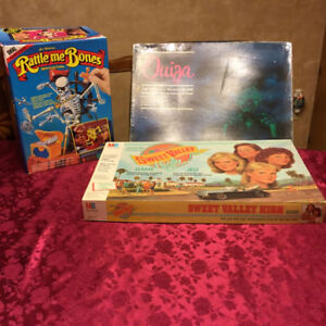 Ouiji and Sweet Valley High Board Games
