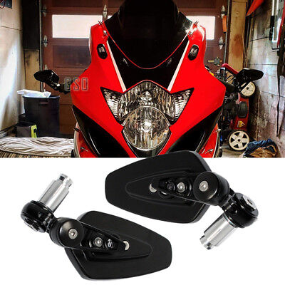"""Super Motorcycle 7/8"""" Handle Bar End Mirrors For For Suzuki GSXR 1000 750 600 US"""