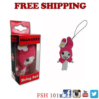 New Sanrio My Melody String Doll VooDoo Doll Key Chain Cell Phone Strap](Hello Kitty Voodoo Doll)