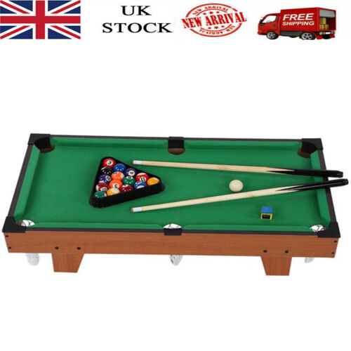Mini Pool Table Children Kids Snooker Billiards Set Cues Balls Indoor Sports