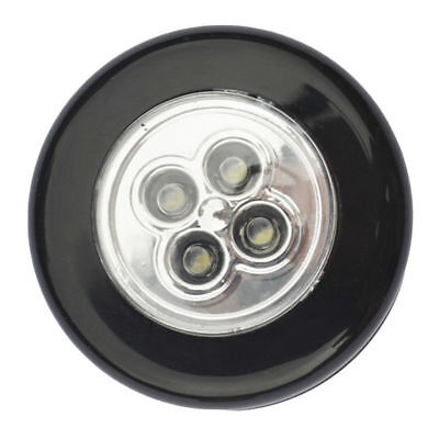 - 5 Pack Stick-on Push Light 4LED Battery-powered Night Light Black