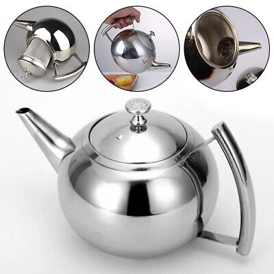 Teekanne Teebereiter 2L mit abnehmbare Edelstahl-Sieb Aufheizbar