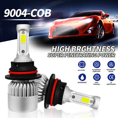 9004 HB1 LED Headlight Kit Hi/Lo Beam 1950W 292500LM Car Light Bulbs 6000K White