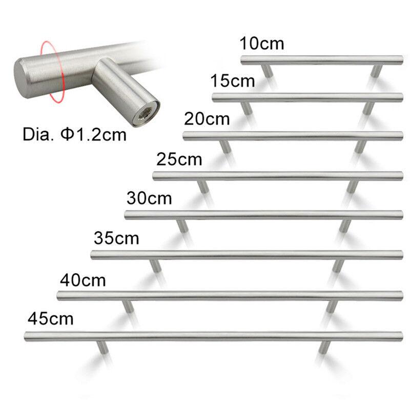 Moderne Edelstahl Griffe für Küche Tür Schrank Möbelknöpfe 100-350mm 10-35cm