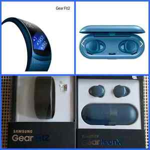 Brand New Samsung Gear Fit 2 and Wireless iConX  Highly Desirabl
