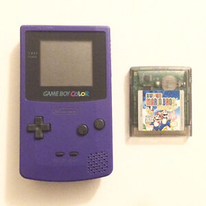 Gameboy color with Mario game