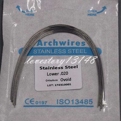 Dental Orthodontic Arch Wire Stainless Steel Round Oval Ovoid 012-020 Ul
