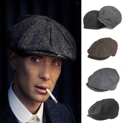 Genuine Peaky Blinders Cap Dentons Gatsby Newsboy 100% Wool Grey Blue Brown