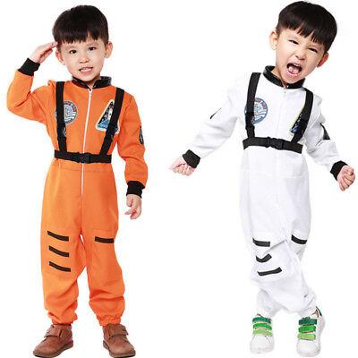 Astronaut Costume Unisex Boys Girls Kids Halloween Party Jumpsuit - Girls Astronaut Costume