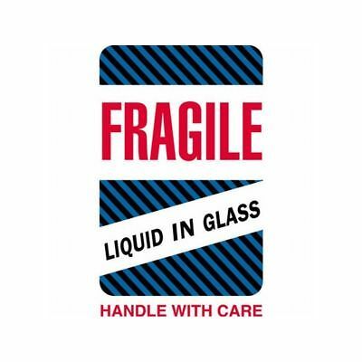 Box Packaging Fragile - Liquid In Glass Labels 4 X 6 500 Per Roll 1 Roll