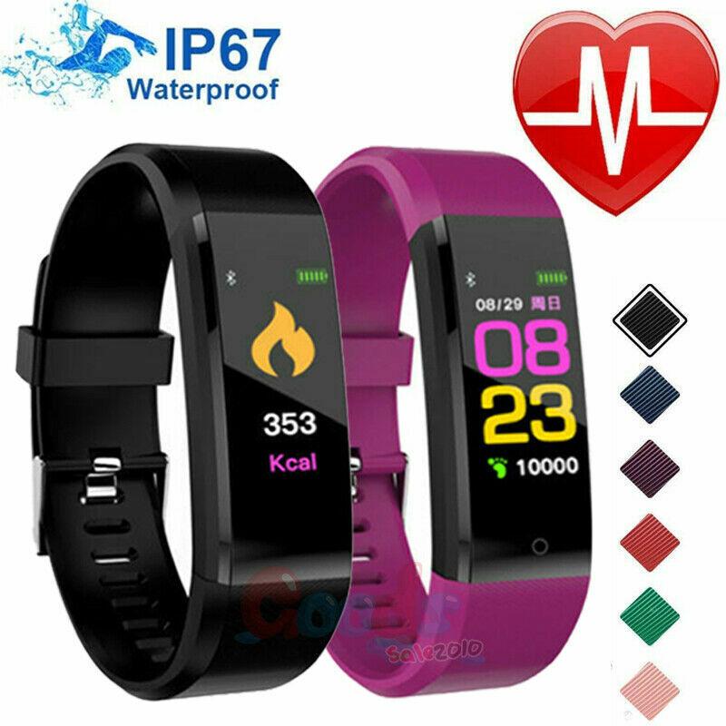 Smart Watch Fit**bit Waterproof Heart Rate Fitness Step Caol