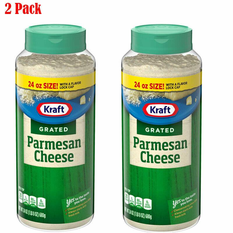 Kraft Grated Parmesan Cheese Shaker (24 oz.)-2 Pack