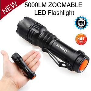 5000 Lumen Zoomable CREE XM-L Q5 LED Flashlight Torch Zoom Super Bright Light