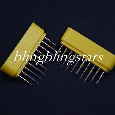 10 Pcskit Dental Diamond Burs Creamics Composite Polishing For High Speed