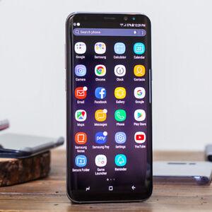 Samsung S8 64 GB, Midnight Black - Unlocked - 10/10 Condition