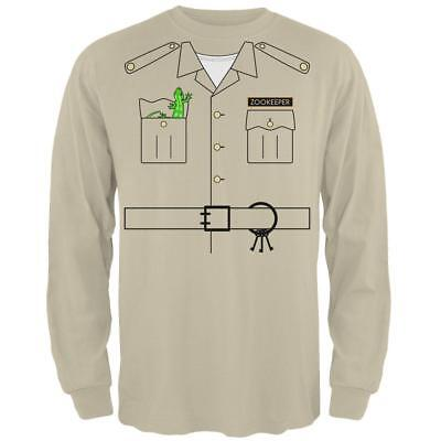Halloween Zookeeper Costume Mens Long Sleeve T Shirt](Zookeeper Halloween Costume Men)