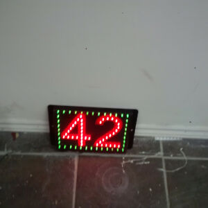 LED house number signs