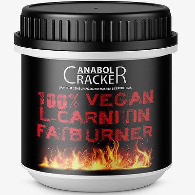 100% VEGAN L-CARNITIN FATBURNER - 200 Kapseln Hochdosiert Diät / Fettverbrennung