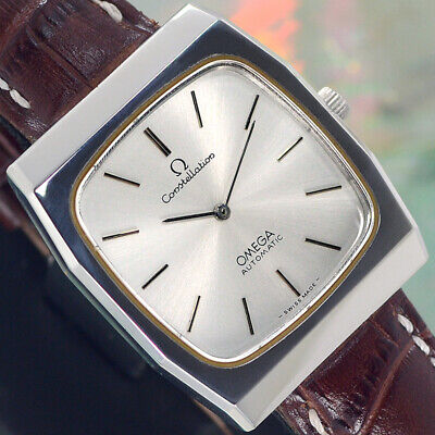 SWISS VINTAGE OMEGA Constellation AUTOMATIC SILVER DIAL ANALOG DRESS MEN