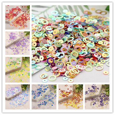 5g 0.23inch Circles Sequins With Golden Tone Paillette DIY Sewing for Dress USE
