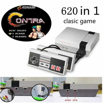 Mini Vintage Retro TV Game Console Classic 620 Built-in Games 2 Controllers 8Bit