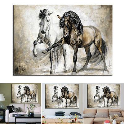 Leinwand Kunstdruck Abstrakt Pferd Canvas Wandbild Ölgemälde Haus Wand