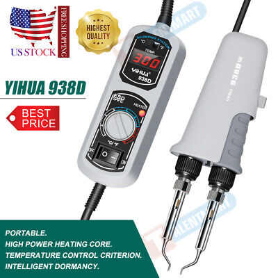 Yihua 938d Portable Hot Tweezers Mini Soldering Iron Station Heat Core 220 110v