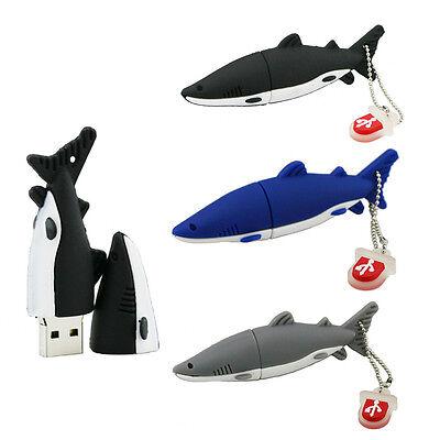 Cute shark model USB 2.0 Memory Stick Flash pen Drive 4GB 8GB 16GB 32GB USB269