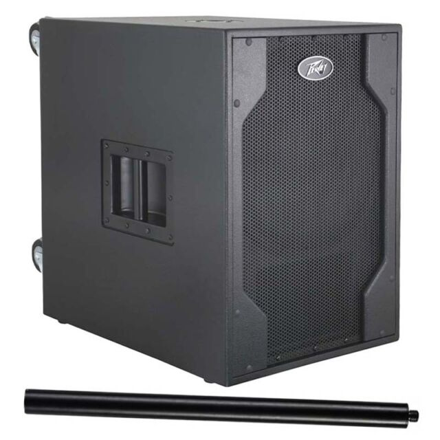 "Peavey PVXp Sub 15"" 800W Powered PA Subwoofer Bass Speaker + Pole + 2Yr Warranty"