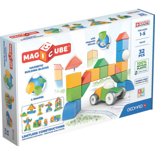 NEW -- Geomag Magicube Multishapes Building Blocks Magnetic Toys 32pc Model 203