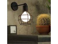 Domistyle # 5156 Black Iron Wall Sconces Set of 2 w// 6 glass tea light votives