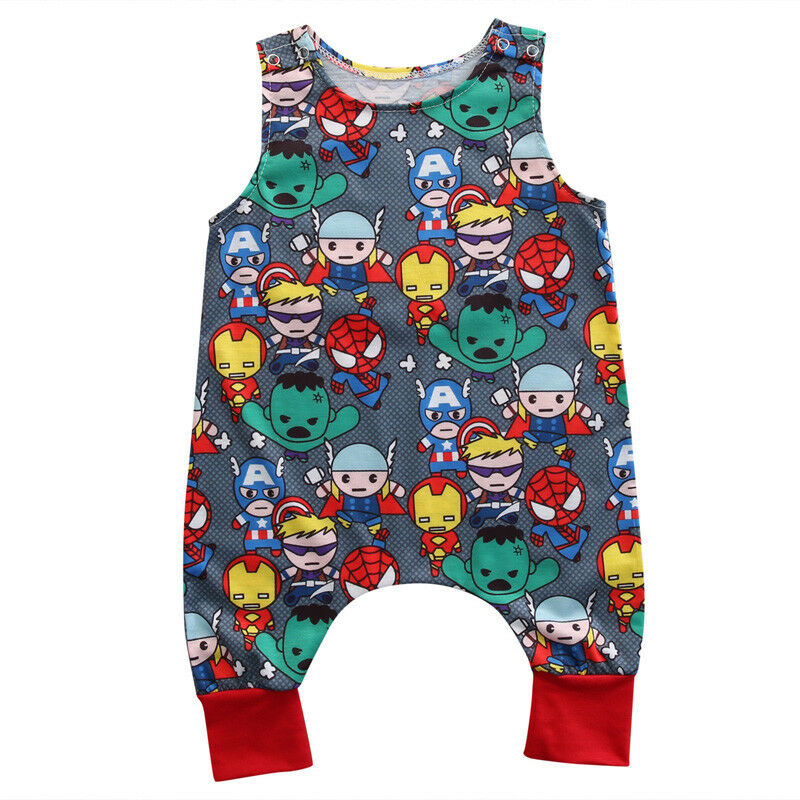 Thor Hulk SpiderMan Marvel Comics IronMan Body Weste, Strampler,Geschenk, Baby