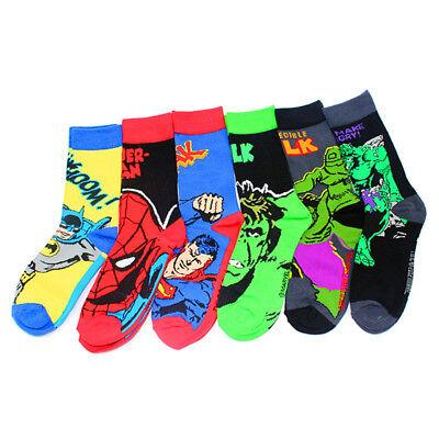 Batman Socks (Super Hero Superman Spiderman Batman Hulk Individuality Cartoon Cotton Long)
