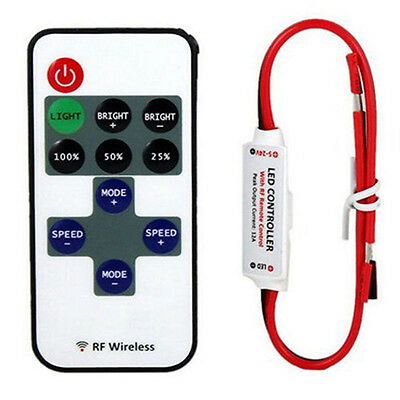 12V RF Wireless Remote Switch Controller Dimmer for Mini LED Strip Light 12v Wireless Remote