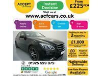 2015 BLACK MERCEDES E220 2.1 AMG LINE NIGHT EDT PREMIUM CAR FINANCE FR £225 PCM