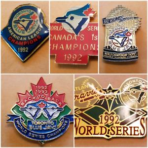 Blue Jays '92 1st World Series & AL Champ Pins