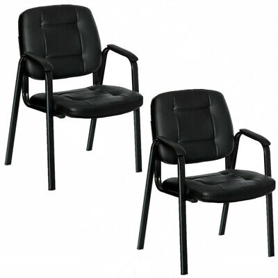 2pcs Ergonomic Conference Chair Office Chair Guest Reception Chair With Armrest