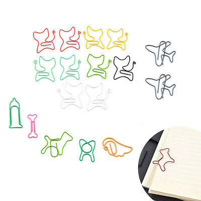 10 Pcs Colorful Paper Clips Office Supplies Stationary Random Desk Accessories