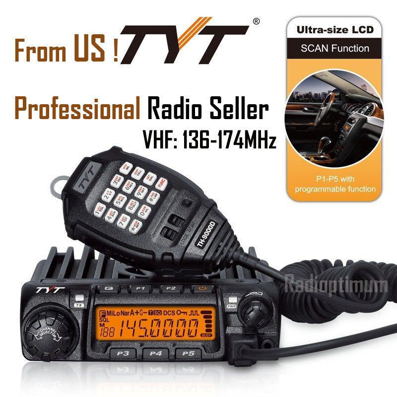 TYT TH-9000D 60W VHF Car Truck Mobile Radio Transceiver Rug Long Range talk