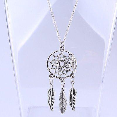 Feather Dreamcatcher Choker Bib Statement Pendant Necklace Women Chain - Dreamcatcher Jewelry