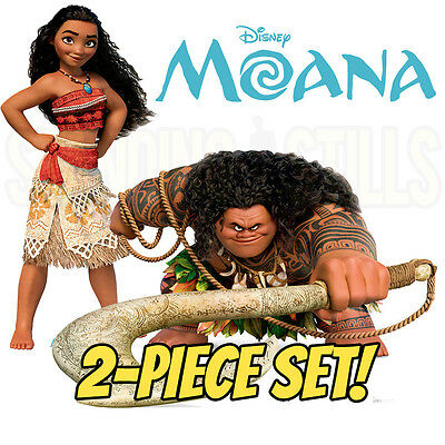 - MOANA & MAUI 2-Piece Set CARDBOARD CUTOUT Standup Standee Poster FREE SHIPPING