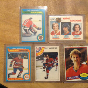 Vintage Hockey Cards- Montreal Canadiens