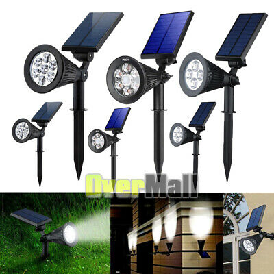 2x Adjustable 7LED Solar Power Auto SpotLight Outdoor Garden Landscape Wall Lamp Adjustable Landscape Spotlight