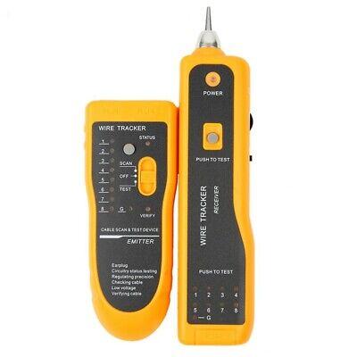 Network Rj11 Rj45 Line Finder Cable Tracker Tester Toner Electric Wire Tracer