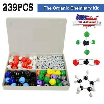 Organic Chemistry Molecular Model Kit Student Teacher Pack w/ Atoms Bonds Guide
