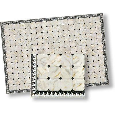 Faux Marble Flooring - 1:24 Dollhouse Flooring Faux Marble Floor Tile by World Model