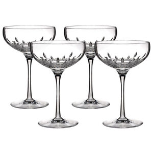 ****WATERFORD LISMORE ESSENCE SAUCER CHAMPAGNE GLASSES****